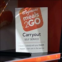 Meals2Go Carryout Self-Service On-Shelf Sign