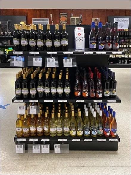 Extra-Wide Wine Endcap Merchandising