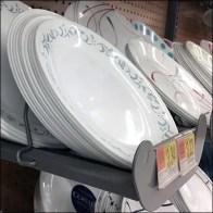 Bar-Mount Tray Dishware Merchandising