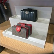 Coach Clutch-Purse Tiered Shelf-Top Display