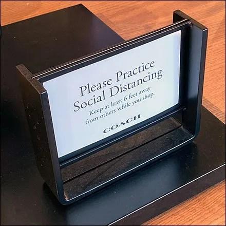 Coach Social Distancing Reminder Signage