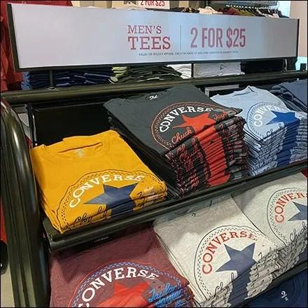 Converse Men's Tees Tiered Rack Display