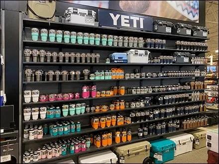 Yeti Merchandising Displays - Yeti Water-Bottle Wall Merchandising Display
