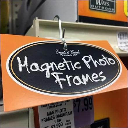 Shelf-Edge Magnetic Frame Strip Merchandiser