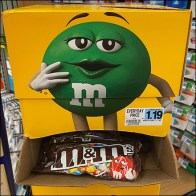 M&Ms Gravity-Feed Corrugated Tower