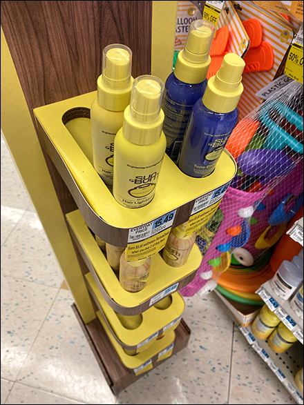 Sun-Bum Hair-Care Corrugated Shelf