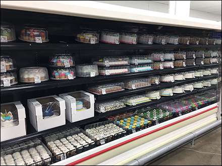 Aisle-Long Decorated Cake Cooler Display