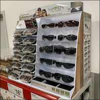 Combined Sunglasses And Clip-Ons Display