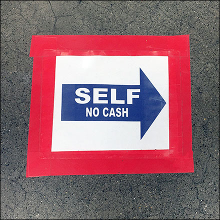 Self-Checkout Keep-Right Floor Graphic