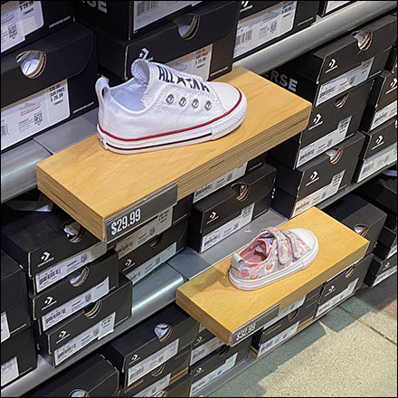 Converse Baby Sneaker Wood Ledge Array