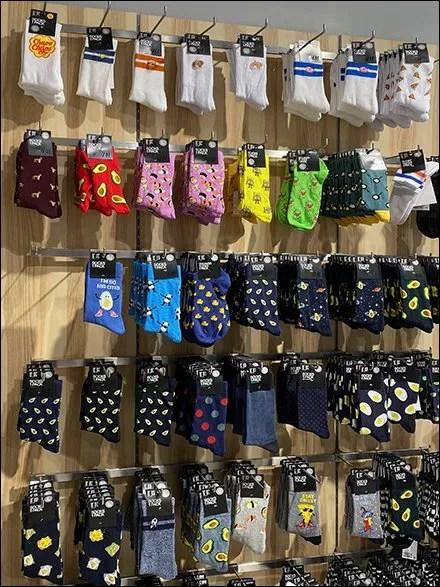 H&M Bar-Mount-Hook Sock Wall