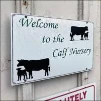 Hillside-Farms Calf Nursery Barn Welcome