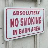 Hillside-Farms No Smoking In Barn Sign