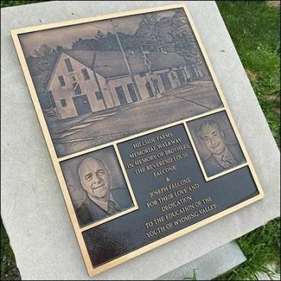 Hillside Farms Walkway Memorial Plaque Square2