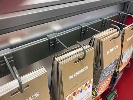 Kohl's Gift-Card Bar-Mount J-Hook Design