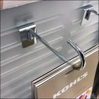 Kohl's Gift-Card Slotwall J-Hook Design