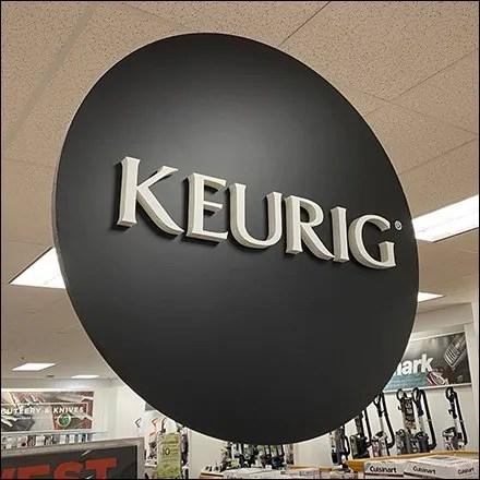 Keurig Coffee Department Overhead Sign