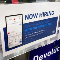 Lowes Hiring Service Counter Sign
