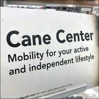 Cane-Center Spinner Rack Display