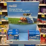 Claritin True-Blue Corrugated Tower Display