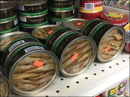 Ethnic Canned Sprats Fishbowl Packaging