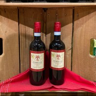 Wood-Crate-Tower Add-On Draped Wine Shelf