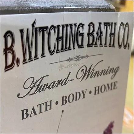 Bewitching Bath Understated Branding Sign