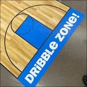 Spaulding NBA Basketball Dribble Zone