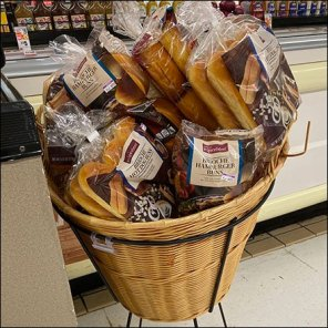 Angled Imported French Roll Wicker Basket