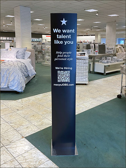 Macy's We Want-Talent-Like-You Tower