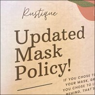 Rustique Updated Retail Mask Policy