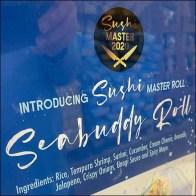 FujiSan Sushi-Master Seabuddy Roll Sign
