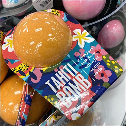 Tahiti-Bomb Bath-Fizzer Acrylic Merchandiser