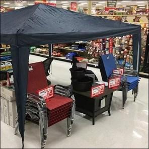 Outdoor-Item Tent Sale In-Store