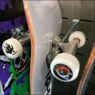 Zumiez Undercounter Skateboard Slotwall Display