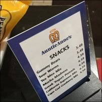 Branded Auntie Anne's Table-Top Sign