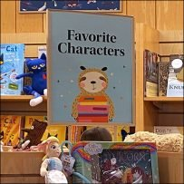 Barnes & Noble Famous Characters Tower