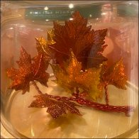 Leafy Fall-Fresh Candle Props