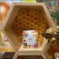 Honey Wildflower Honeycomb Design Display