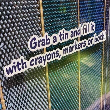 Crayola Crayon Perimeter Gravity-Feed Illusion