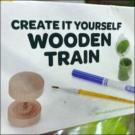 Create-It-Yourself Color-In Wooden Train