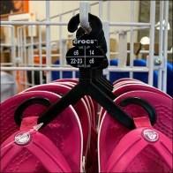 DSW Crocs International Size Sandals Hanger Square
