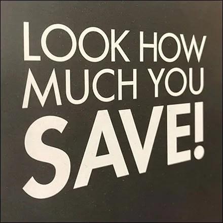 DSW Shoe Savings Calculator Sign