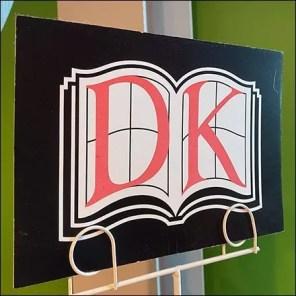 DK Book Dual Coil Clip Signholder