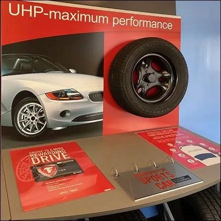 Sports Car Performance Tire Display