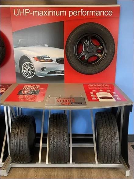 Sports Car Performance Tire DisplaySports Car Performance Tire Display