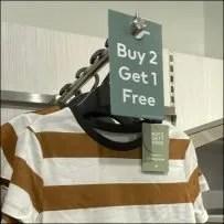 H&M Buy-2-Get-1 T-Shirt BOGO Offer