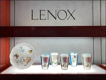 Lenox Tableware Displays - Macy's Lenox Tableware Wall Display