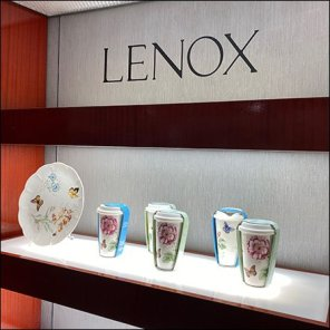 Macy's Lenox Tableware Wall Display