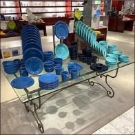Rectangular Glass Table Dinnerware Display